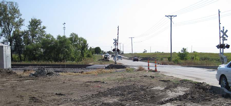 The railroad crossing at 23rd Street.