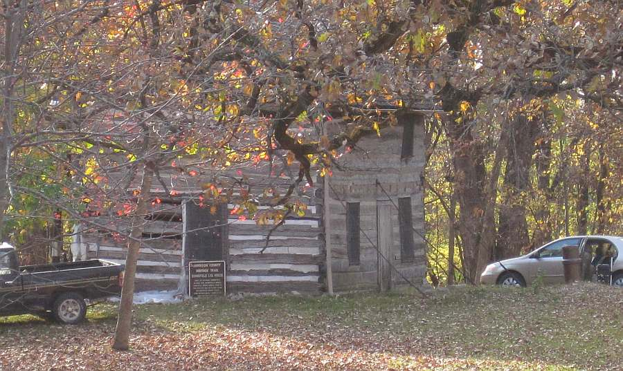 Bonnifield Log House, in Old Settlers Association Park, at Waterworks Park.