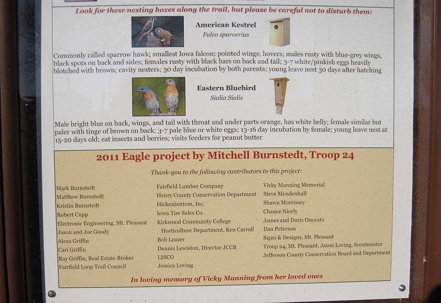 2011 Eagle project by Mitchell Burnstedt, Troop 24.