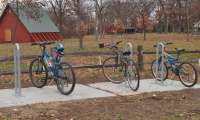 Bike Racks in Chautauqua Park