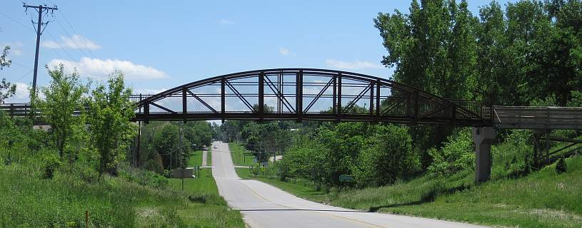 Matkin Bridge, a pedestrian bridge over Hwy 1