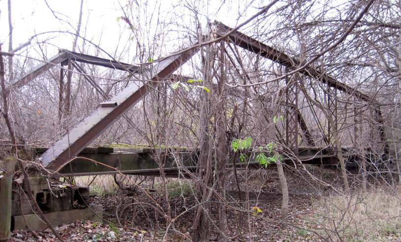 Abandoned bridge along Mint Blvd