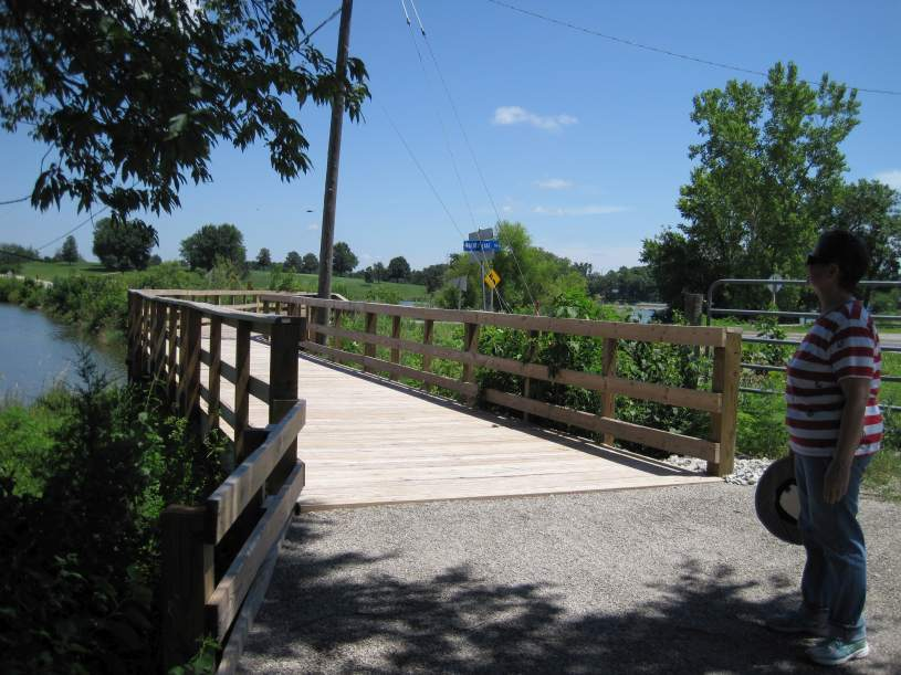 The new boardwalk at Walton Road, at Walton Lake.