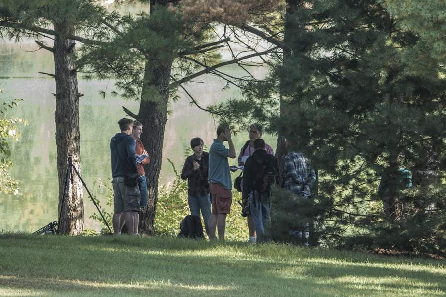 The photography class in session along the Loop Trail, Sep 28, 2014.