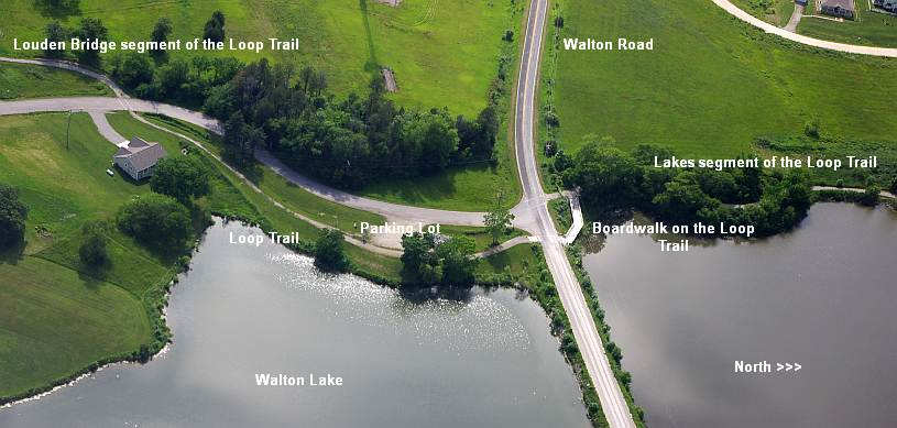 Aerial view of the Loop Trail.