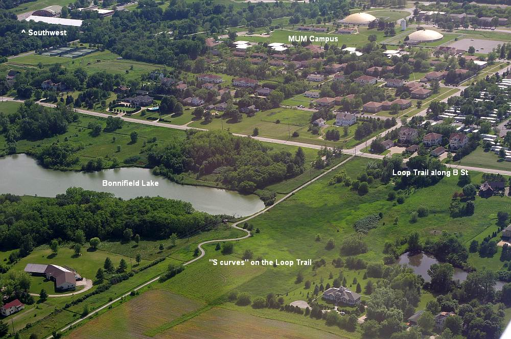 Aerial photo of the Loop Trail