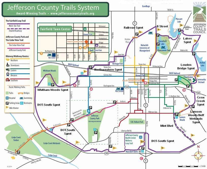 Map- Jefferson County Trails System