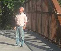Ron Blair on Hwy 1 bridge