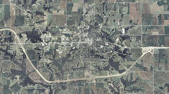 Aerial photo of Hwy 34 bypass