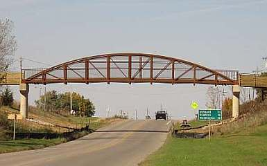 The new Loop Trail bridge over Hwy 1 which replaces the old Rock Island Railroad bridge.