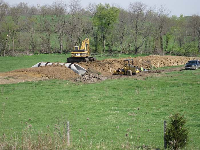 The tunnel will let cattle cross to the other side of the pasture (taken 04/13/10).